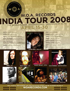 woa records india tour, oliver sean, xiren swindler